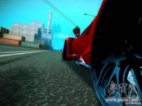 Hennessey Venom GT Spyder para GTA San Andreas vista posterior izquierda