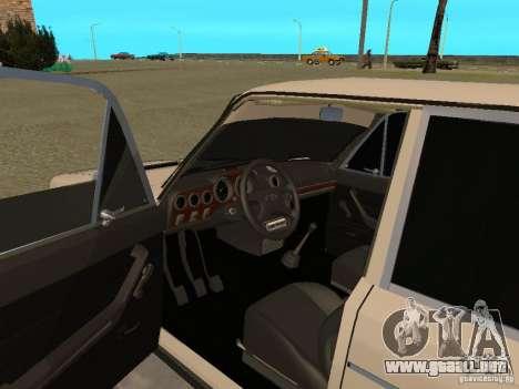 Estilo del oeste 2106 VAZ para GTA San Andreas vista hacia atrás