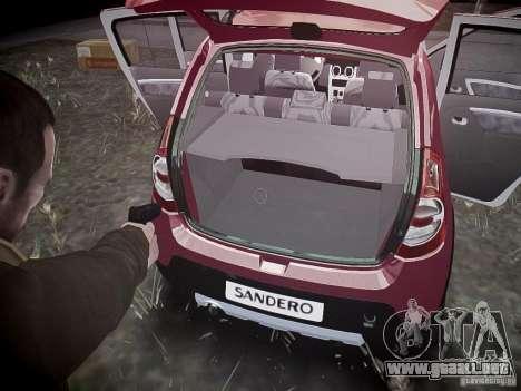Dacia Sandero Stepway para GTA 4 ruedas