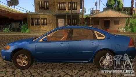 Chevrolet Impala para GTA San Andreas left