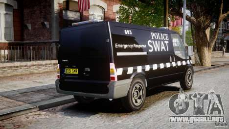 Ford Transit SWAT [ELS] para GTA 4 vista interior