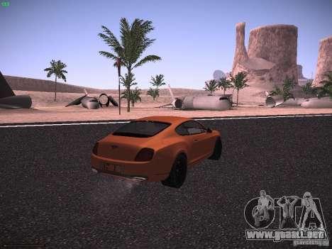 Bentley Continetal SS Dubai Gold Edition para GTA San Andreas vista posterior izquierda