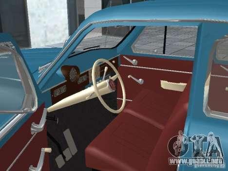 Moskvich 403 para GTA San Andreas vista hacia atrás