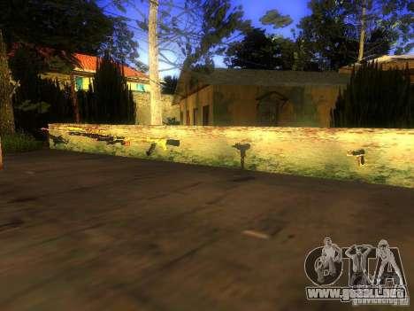 Armas en la calle Grove para GTA San Andreas tercera pantalla