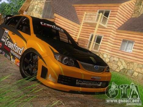 Subaru Impreza WRX STI N14 Gymkhana para visión interna GTA San Andreas