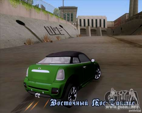 Mini Cooper Concept v1 2010 para GTA San Andreas vista posterior izquierda