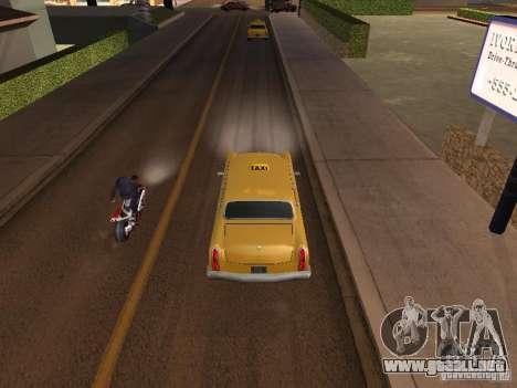 Salto de motocicleta en mi coche para GTA San Andreas segunda pantalla