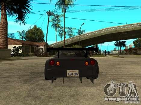 Nissan Skyline R34 GT-R para GTA San Andreas vista posterior izquierda