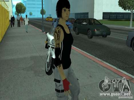 Mirrors Edge Faith para GTA San Andreas segunda pantalla