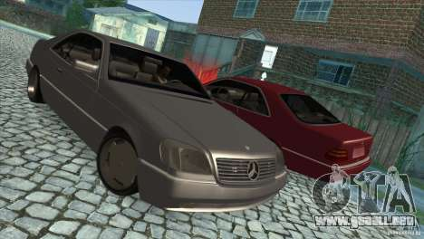 Mercedes Benz 600 Sec para vista lateral GTA San Andreas