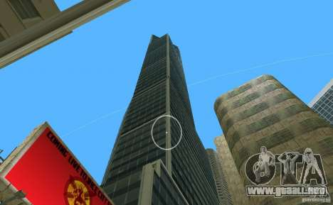New Downtown: Hospital and scyscrap para GTA Vice City quinta pantalla
