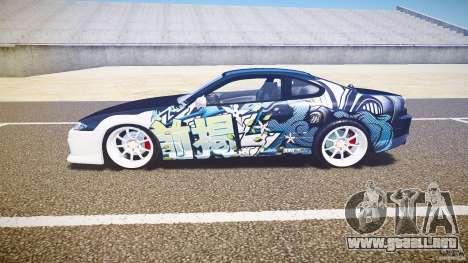 Nissan Silvia S15 Drift v1.1 para GTA 4 Vista posterior izquierda