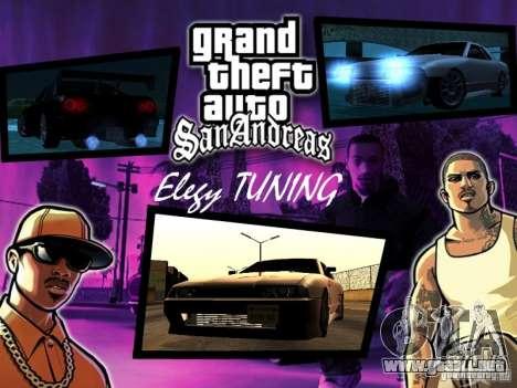 ELEGY TUNING MOD para GTA San Andreas left