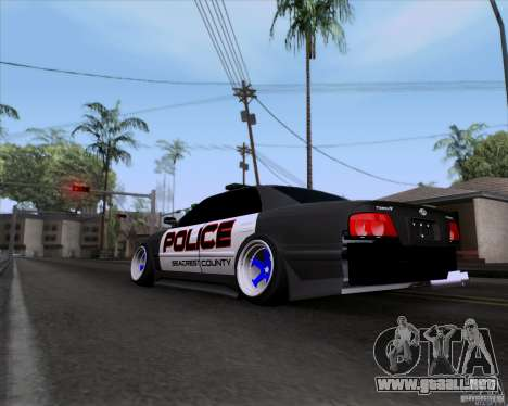 Toyota Chaser jzx100 Drift Police para GTA San Andreas left