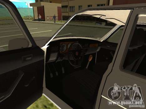 Volga GAZ 31022 para GTA San Andreas vista hacia atrás