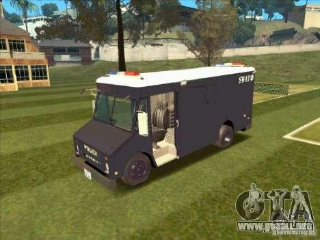 Swat Van from L.A. Police para GTA San Andreas left