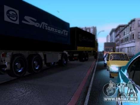 Remolque Kamaz 62117 para GTA San Andreas vista posterior izquierda