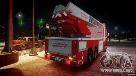 Scania Fire Ladder v1.1 Emerglights blue-red ELS para GTA motor 4