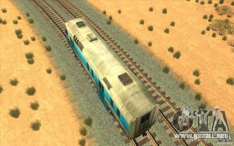 Un tren del juego Half-Life 2 para GTA San Andreas vista hacia atrás