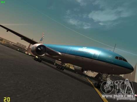 Boeing 777-200 KLM Royal Dutch Airlines para GTA San Andreas