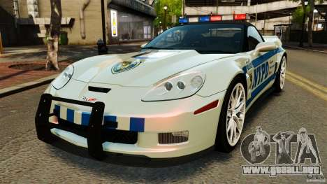 Chevrolet Corvette ZR1 Police para GTA 4