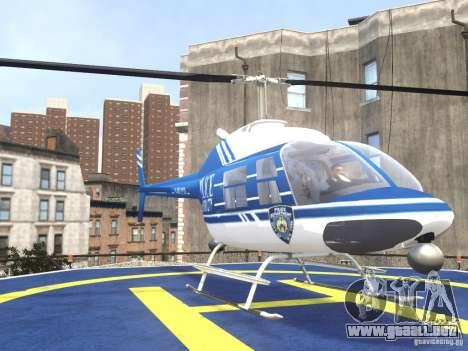 Bell 206 B - NYPD para GTA 4 vista hacia atrás