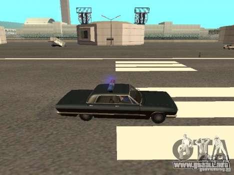 Police Savanna para GTA San Andreas vista posterior izquierda