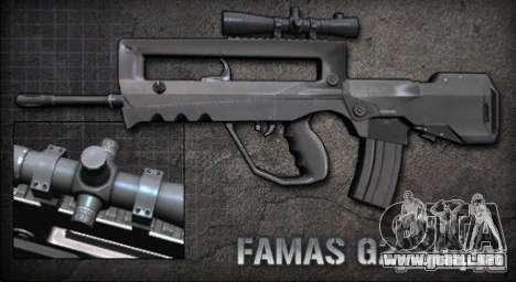 [Point Blank] Famas G2 Sniper para GTA San Andreas