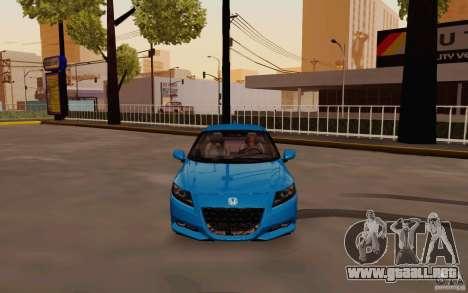 Honda CR-Z 2010 V3.0 para visión interna GTA San Andreas