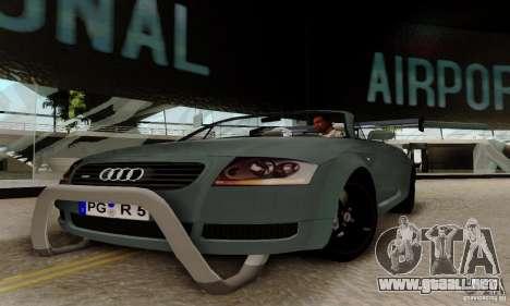 Audi TT Roadster para GTA San Andreas vista hacia atrás