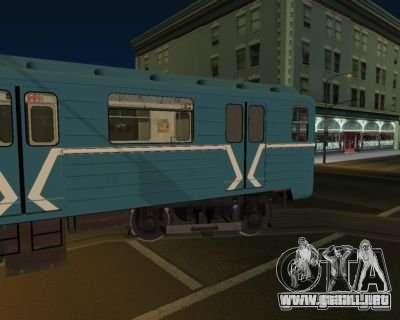 Animtrain para GTA San Andreas segunda pantalla