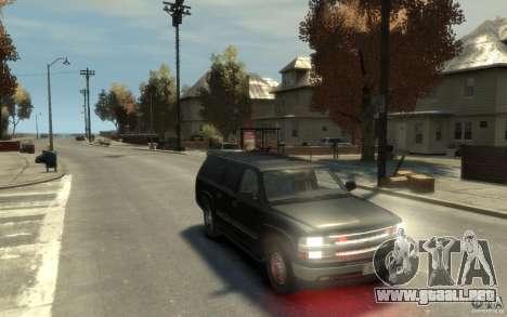 Chevrolet Suburban 2003 FBI para GTA 4 vista hacia atrás