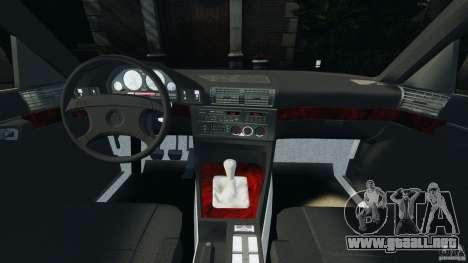 BMW E34 V8 540i para GTA 4 vista hacia atrás