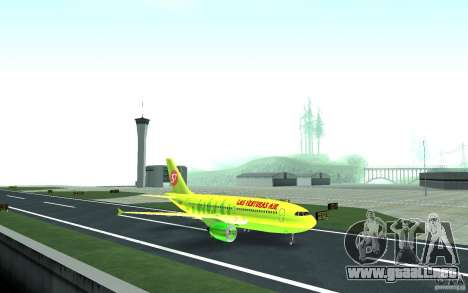 Airbus A310 S7 Airlines para GTA San Andreas left