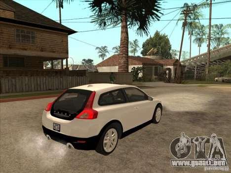 Volvo C30 para GTA San Andreas vista hacia atrás