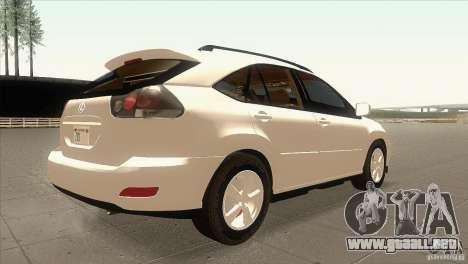 Lexus RX350 para la visión correcta GTA San Andreas