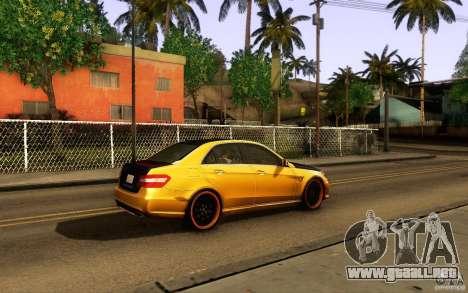 Mercedes Benz E63 DUB para visión interna GTA San Andreas