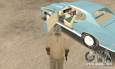 Pontiac GTO The Judge para GTA San Andreas vista hacia atrás