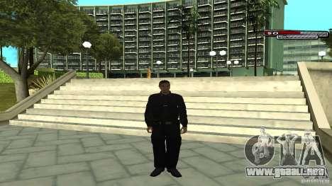 Oficial de policía para GTA San Andreas sucesivamente de pantalla