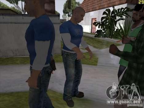 Vin Diesel para GTA San Andreas sucesivamente de pantalla