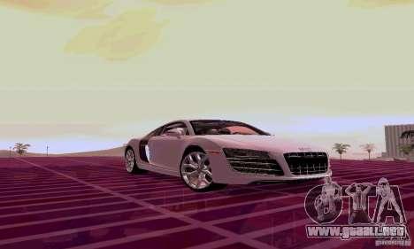 Audi R8 V10 5.2. FSI para GTA San Andreas left