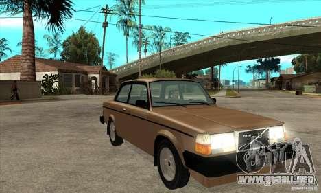 Volvo 240 Turbo para GTA San Andreas vista hacia atrás