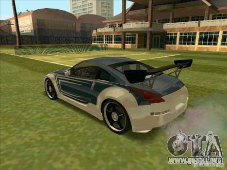 Nissan 350Z Chay from FnF 3 para GTA San Andreas left
