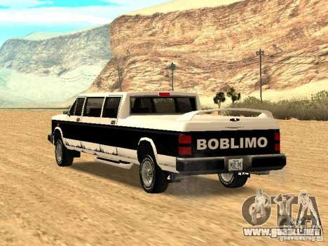 BOBCAT Limousine para GTA San Andreas left