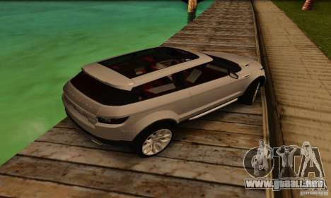 Land Rover Range Rover Evoque para GTA San Andreas vista hacia atrás