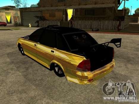 Lada 2170 Priora GOLD para GTA San Andreas left