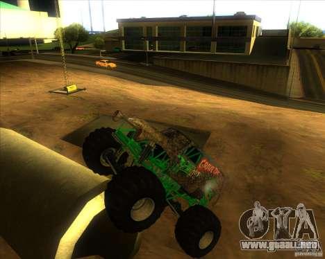 Grave Digger para la visión correcta GTA San Andreas