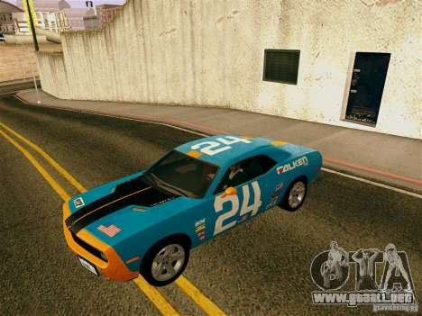 Dodge Challenger SRT8 para vista inferior GTA San Andreas