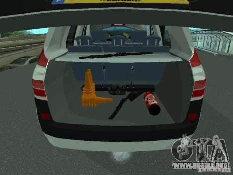 Renault Scenic II Police para vista lateral GTA San Andreas