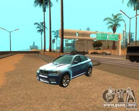 BMW Motorsport X6 M v. 2.0 para GTA San Andreas